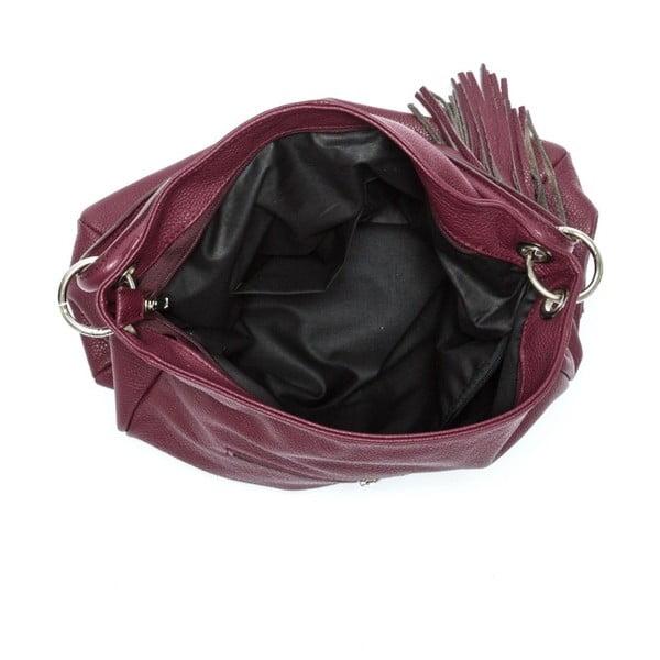 Vínová kožená kabelka Anna Luchini Kate Vino