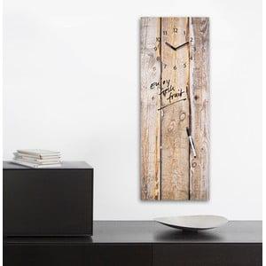 Magnetická tabuľa s hodinami Eurographics Timber, 30 x 80 cm