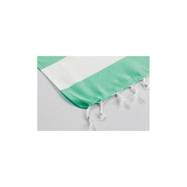 Hamam osuška Myra Green White, 100x180 cm