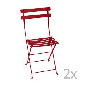 Sada 2 červených skladacích stoličiek Fermob Bistro