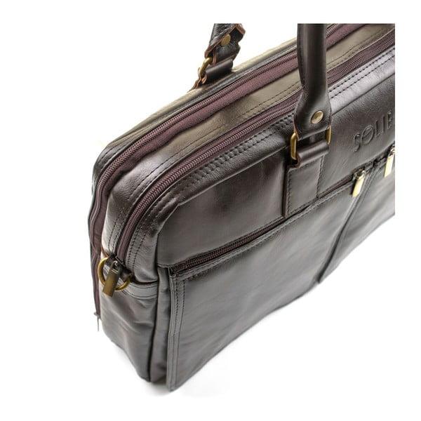 Pánska kožená taška Solier SL01 Brown