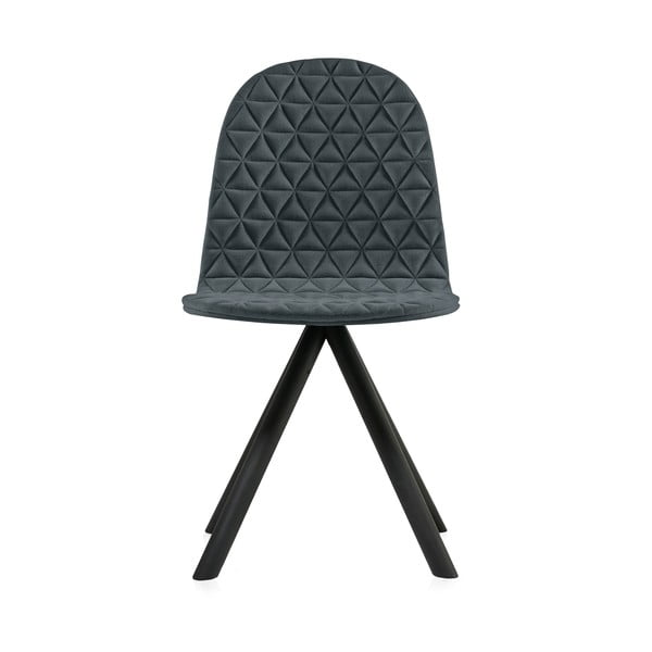 Tmavosivá stolička s čiernymi nohami IKER Mannequin Triangle