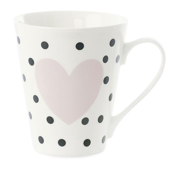 Porcelánový hrnček Miss Étoile Coffee Black Dots and Rose Heart