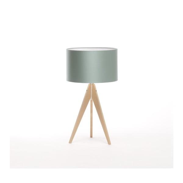Oceľovomodrá stolová lampa Artist, breza, Ø 33 cm