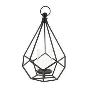 Kovový lampáš Black Cage