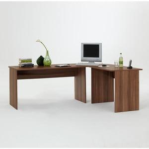 Rohový pracovný stôl Till, slivka