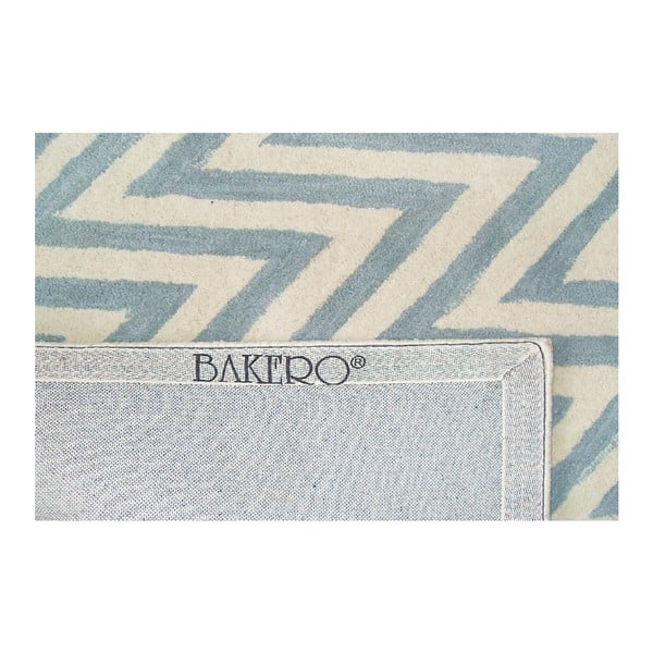 Vlnený koberec Ziggy Ivory Blue, 183x122cm