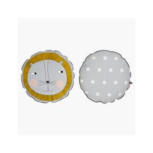 Detský vankúš z organickej bavlny OYOY Lion, ⌀ 50 cm