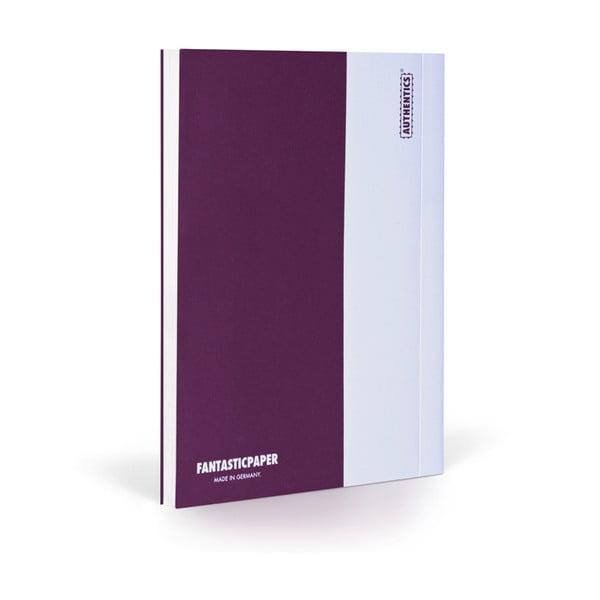 Zápisník FANTASTICPAPER XL Aubergine/White, čistý