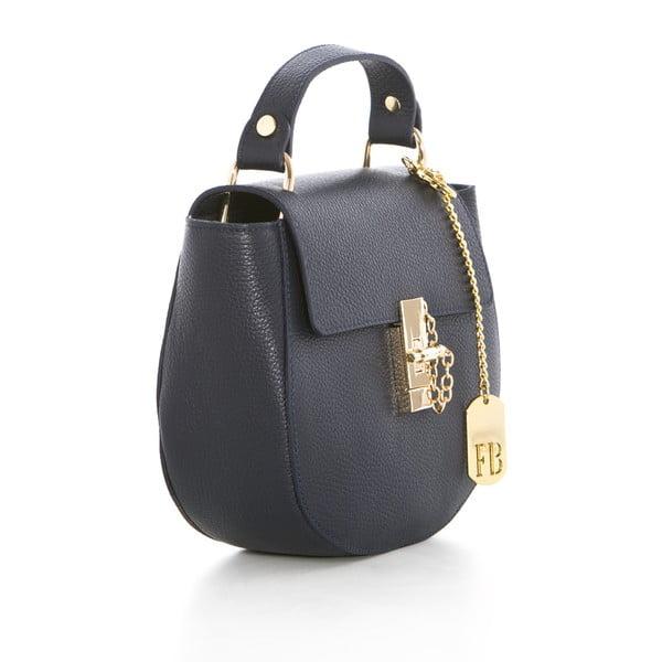 Tmavomodrá kožená kabelka Federica Bassi Virgin