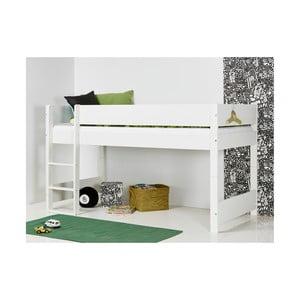Biela detská poschodová posteľ s bezpečnostnými postrannými peľasťami Manis-h Argos, 90 x 200 cm