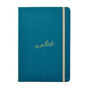 Tyrkysovomodrý zápisník formátu A5 Busy B Life, 128 strán