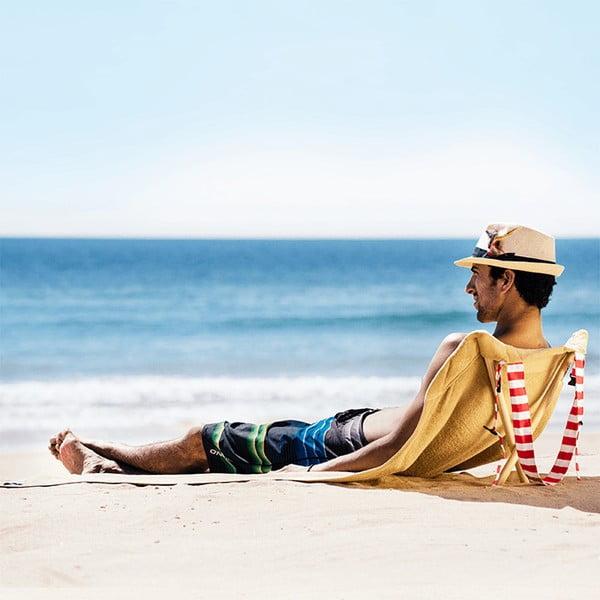 Skladacie plážové lehátko a osuška v jednom Sun Seat Sand
