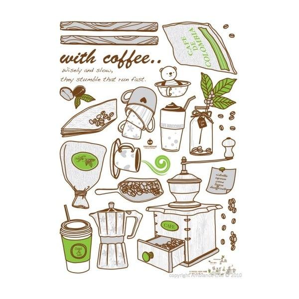 Samolepka Fanastick Coffee Grinder