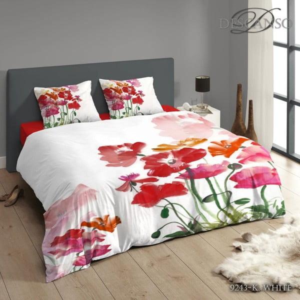 Obliečky Poppy White, 200x200 cm