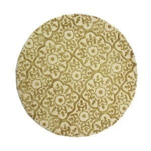 Béžový ručne tkaný koberec Flair Rugs Knightsbridge, ø 150 cm