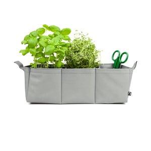 Polyesterový kvetináč Herbie, sivý