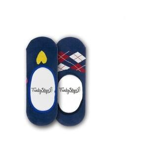 Sada 2 párov nízkych ponožiek Funky Steps Lucky, veľkosť 35 - 39