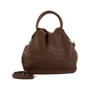 Tmavohnedá kožená kabelka Andrea Cardone 1029