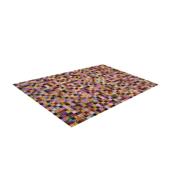Koberec z pravej kože Sao Paulo Multi, 140x200 cm