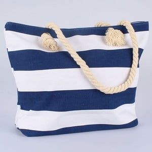 Textilná modro-biela taška Dakls