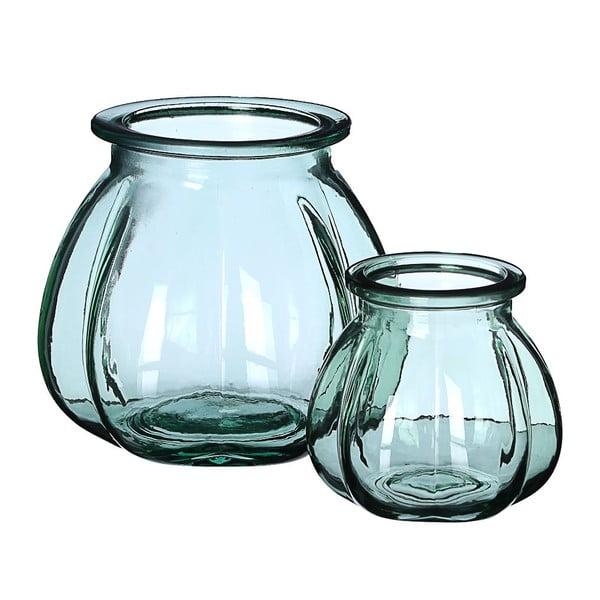 Sklenená váza Green, 18x16 cm