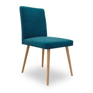 Tyrkysová jedálenská stolička Massive Home Paula
