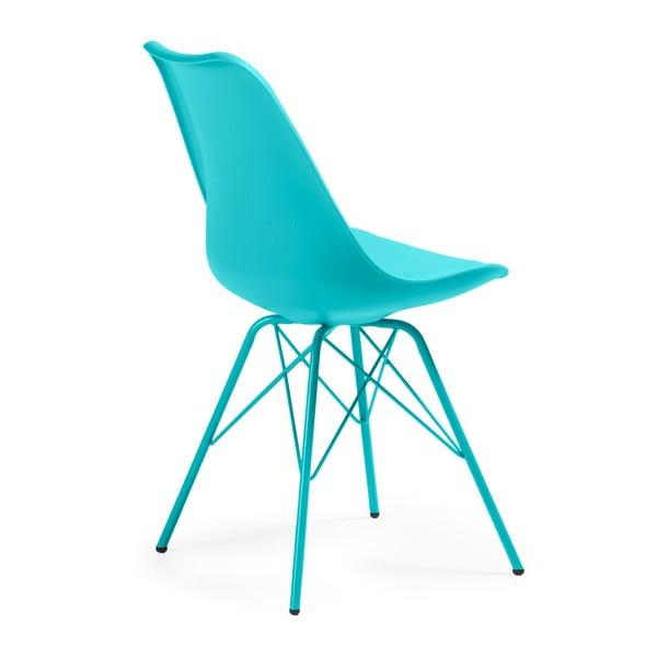 Sada 4 modrých stoličiek La Forma Lars