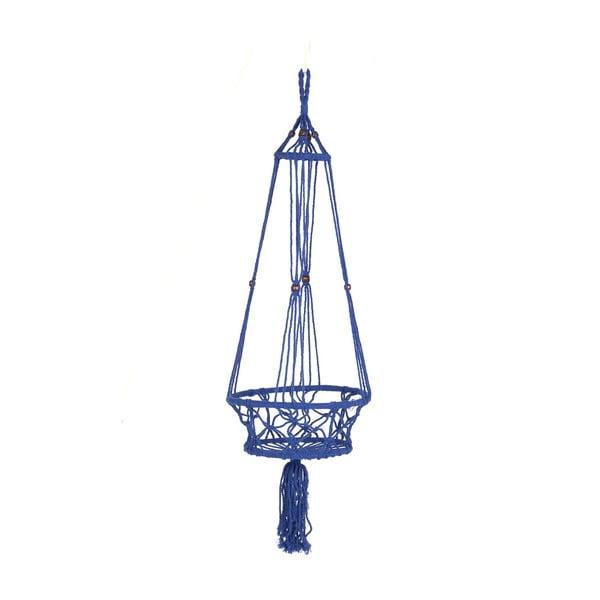 Závesný držiak na kvetináč Macrame Azul, 25 cm