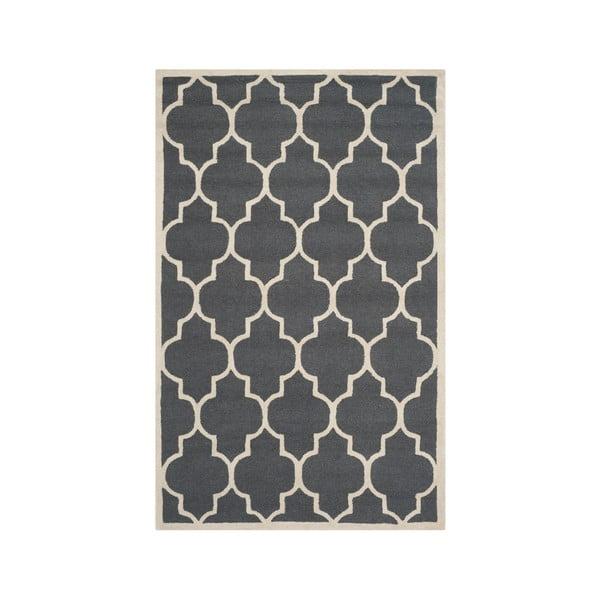 Vlnený koberec Everly 152x243 cm, sivý