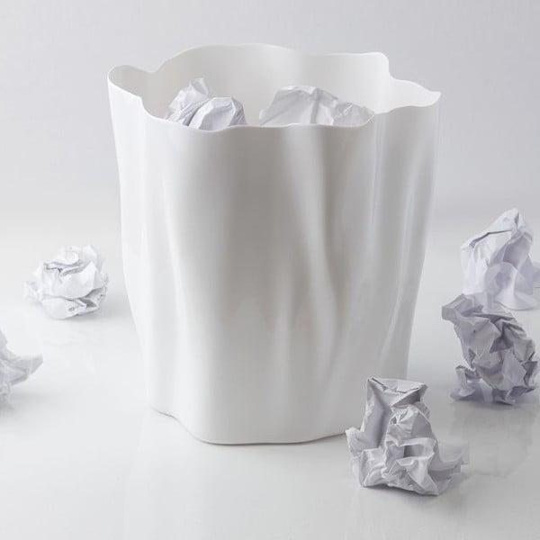 Odpadkový kôš QUALY Flow Bin, biely