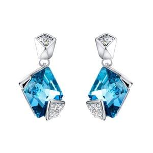 Náušnice s modrými krištáľmi Swarovski Elements Crystals Sharp