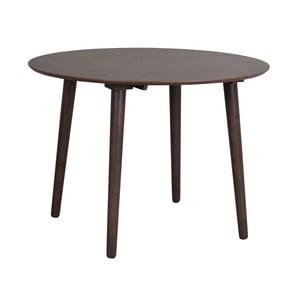 Hnědý jídelní stůl ze dřeva kaučukovníku Rowico Lotte