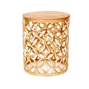Odkladací stolík v zlatej farbe Miloo Home Louis, ⌀ 34 cm