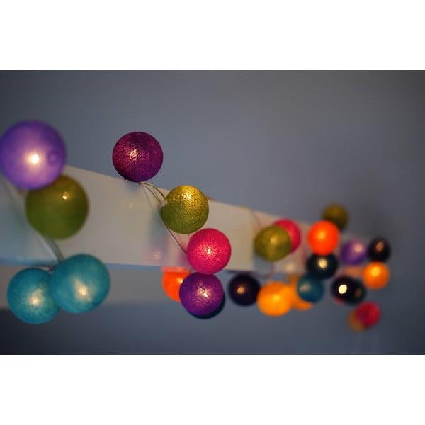 Svetelná reťaz Caramel Swirl, 35 ks svetielok