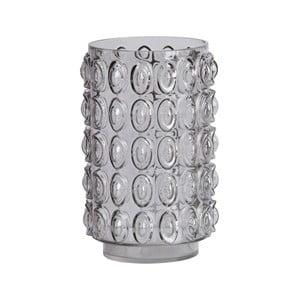 Sivá sklenená váza BePureHome Bumps