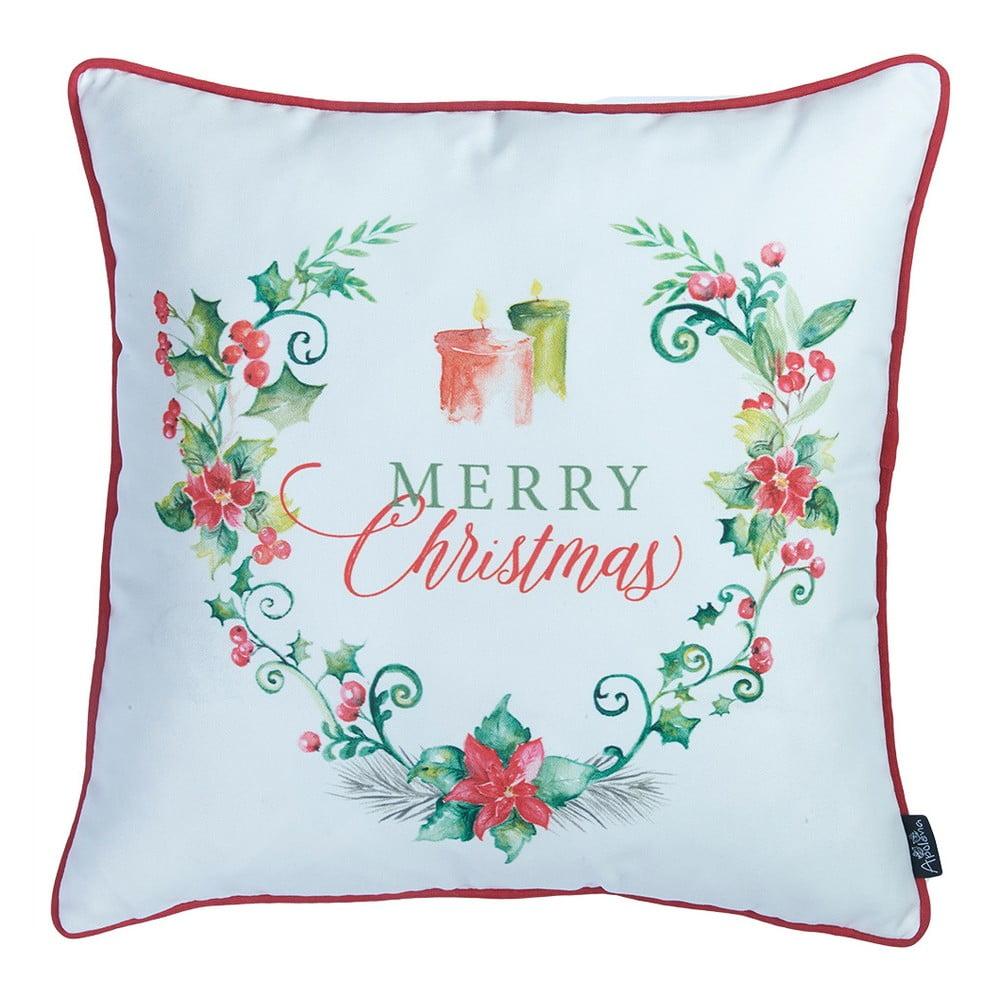 Obliečka na vankúš s vianočným motívom Apolena Honey Candles, 45 × 45 cm