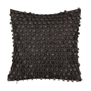 Čierny obojstranný vankúš Kate Louise Bulio, 45 × 45 cm