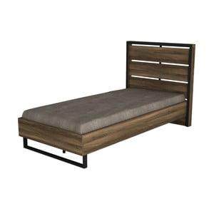 Jednolôžková posteľ v dekore orechového dreva Ratto Lost, 198 × 102 cm