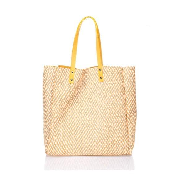 Oboustranná kožená kabelka Krole Korrine, žltá