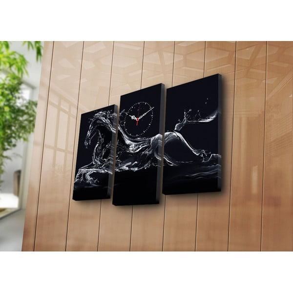 Viacdielny obraz s hodinami Ricardo, 66x45 cm