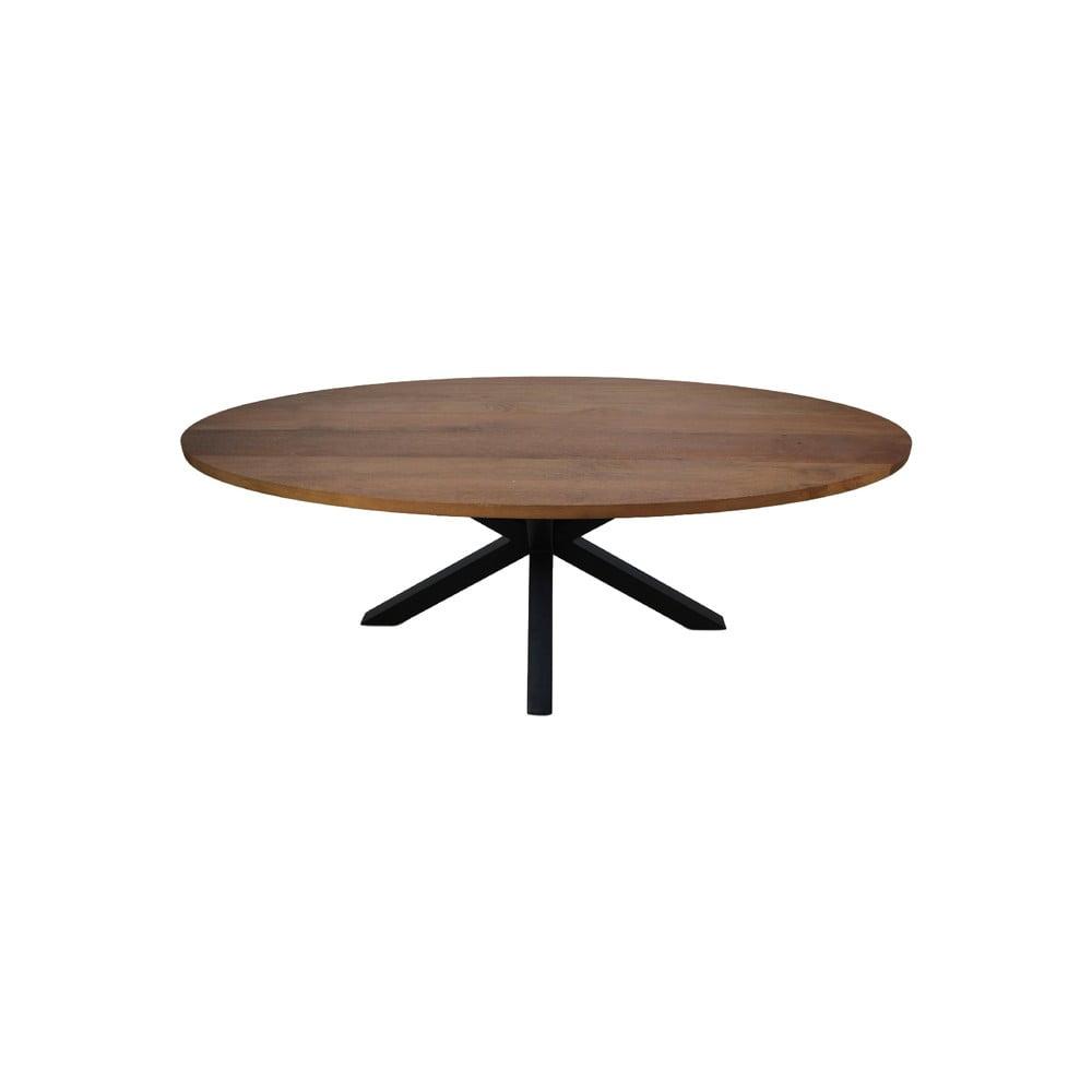 Oválny jedálenský stôl s doskou z mangového dreva HMS collection, 220 x 110 cm