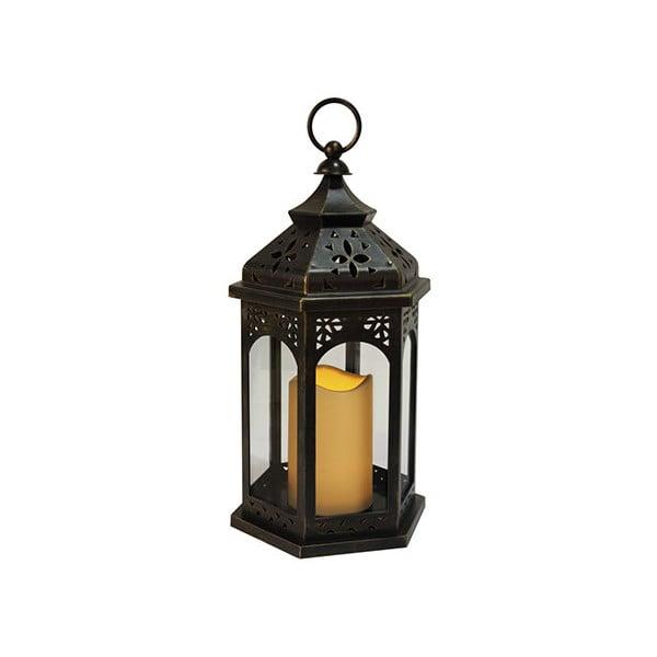Čierny LED lampáš Best Season Amber
