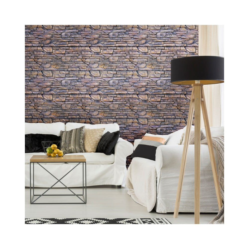 Nástenná samolepka Ambiance Wall Decal Materials Stone Facing of Torrerdam, 40 × 40 cm