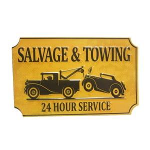 Ceduľa na stenu Salvage&Towing
