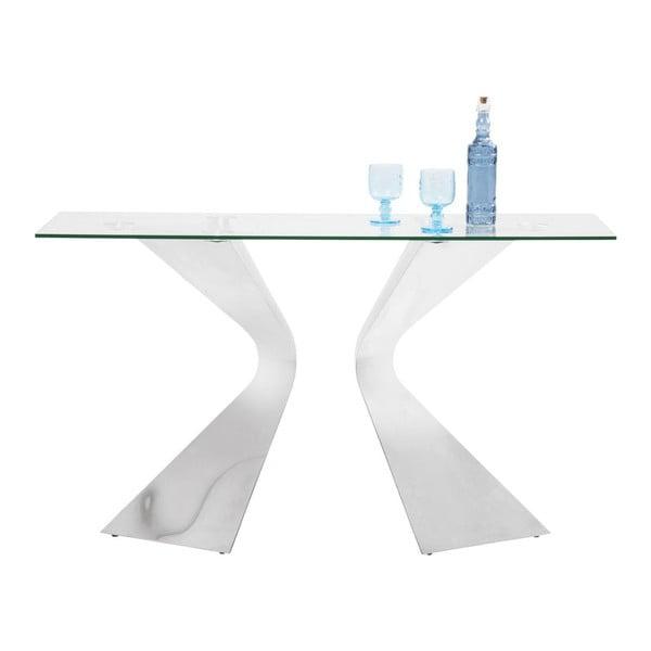 Konzolový stolík s nohami vo farbe chrómu Kare Design Gloria