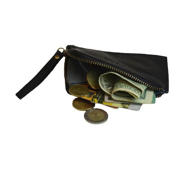 Kožená peňaženka na drobné Coin, čierna