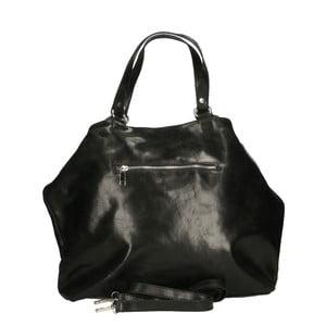 Čierna kožená kabelka Chicca Borse Terracia