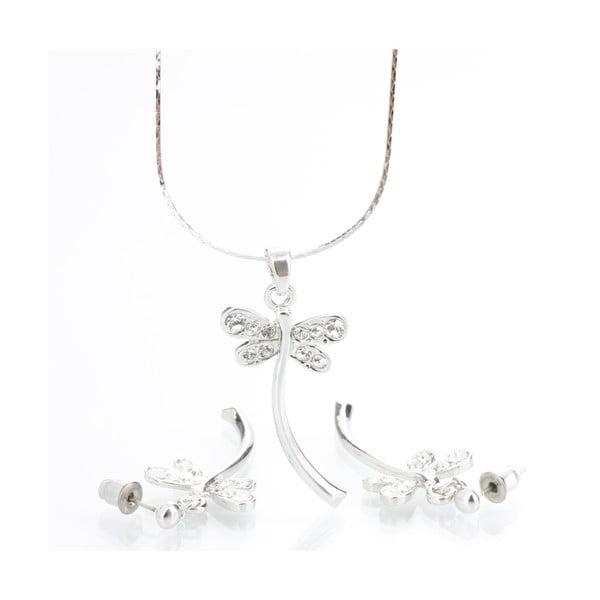 Set náhrdelníka a náušníc s krištáľmi Swarovski Elements Laura Bruni Dragonfly