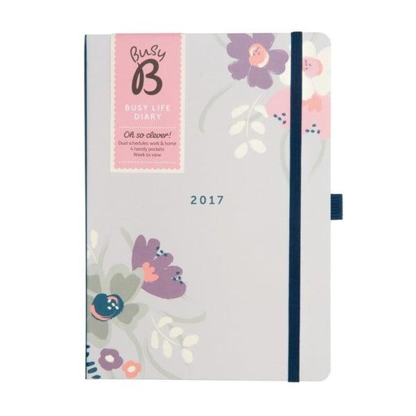 Diár Busy B Busy Life Floral 2017
